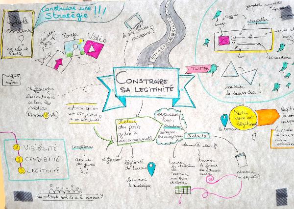 « Construire sa légitimité », résumé dessiné de la discussion par Léa d'Eclore